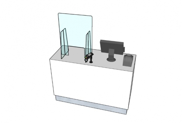 Serve over counter screen