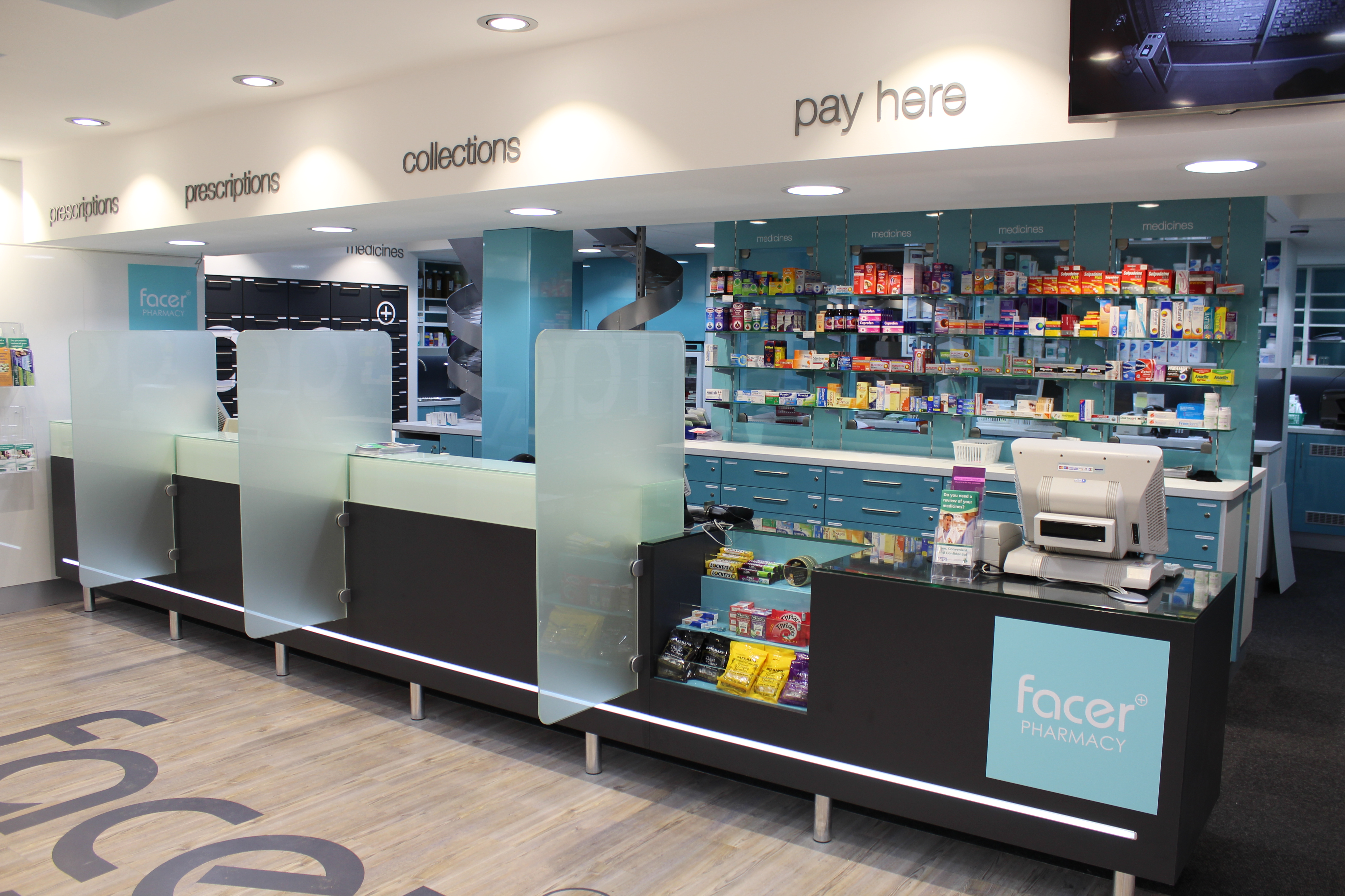 Pharmacy Retail Counters